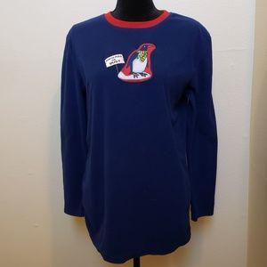 Tops - Fleece Penguin Long Sleeved Top